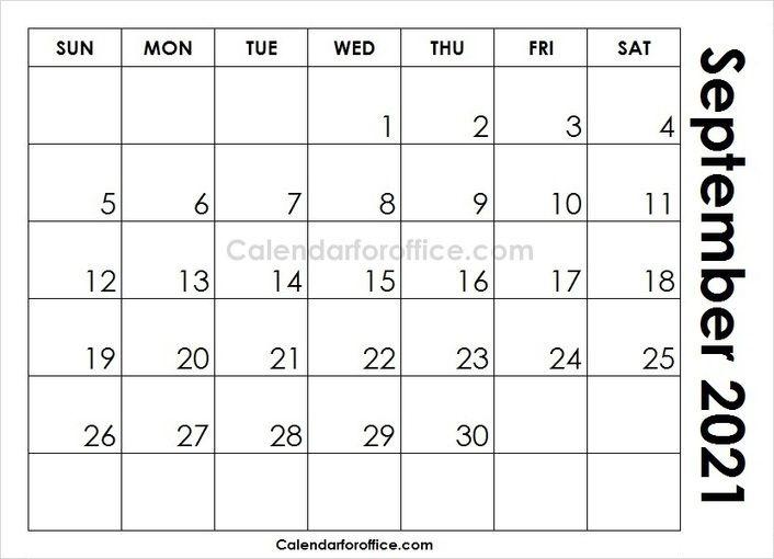 20+ Calendar For September 2021 - Free Download Printable