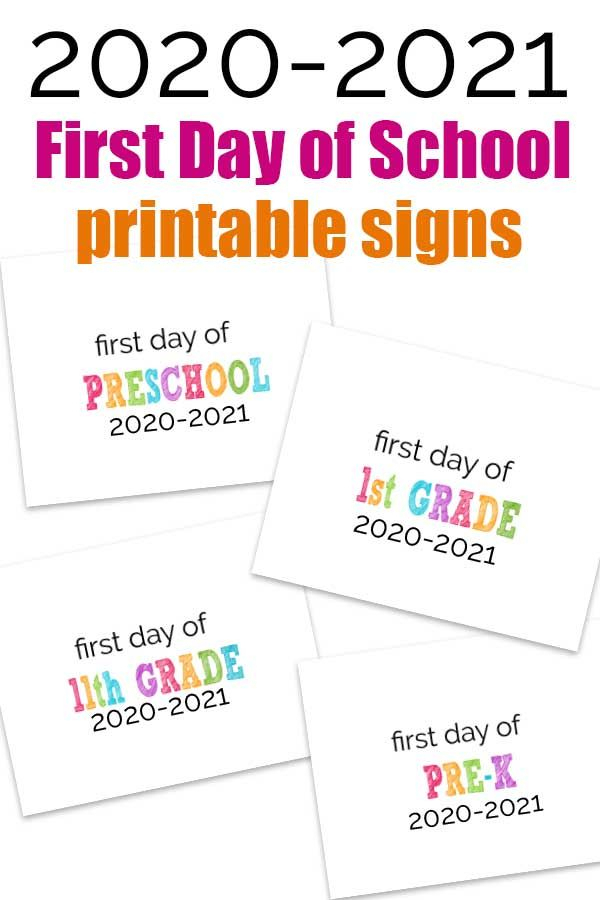 2020-2021 First Day Of School Signs In 2020   School Signs