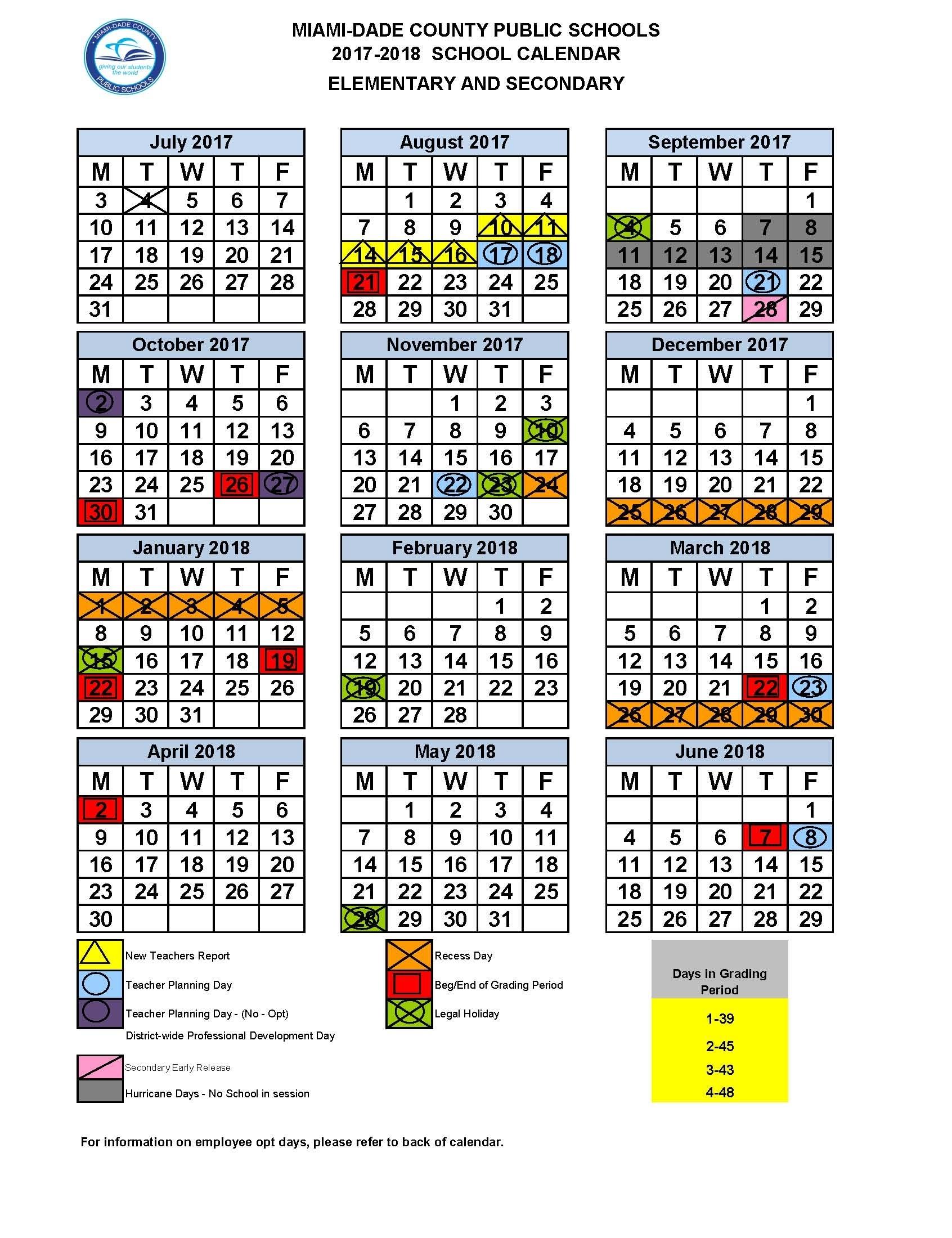 2020 2021 School Calendar Miami Dade | Calendar 2020