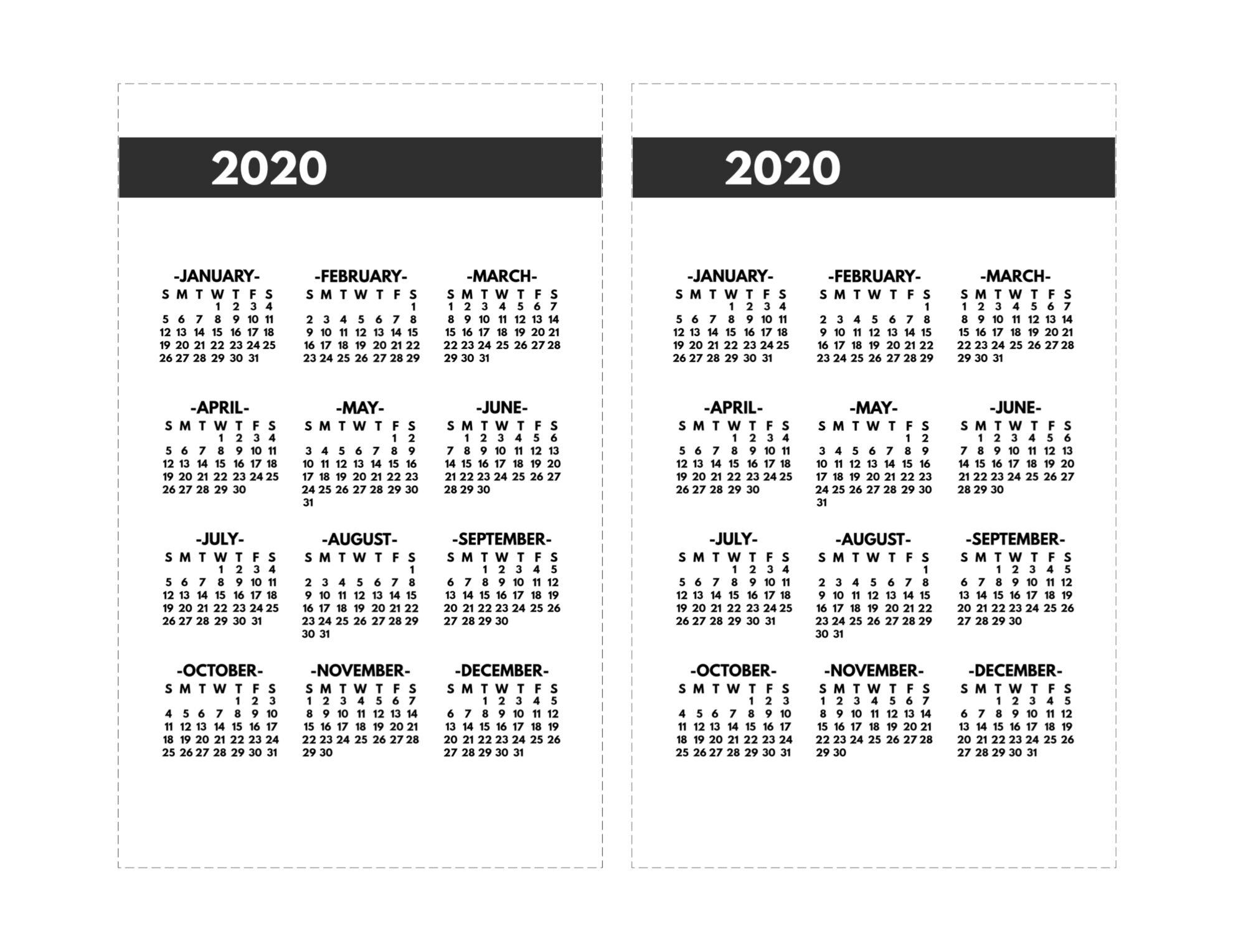 2020 Calendar 8 1/2 X 11   Free Printable Calendar