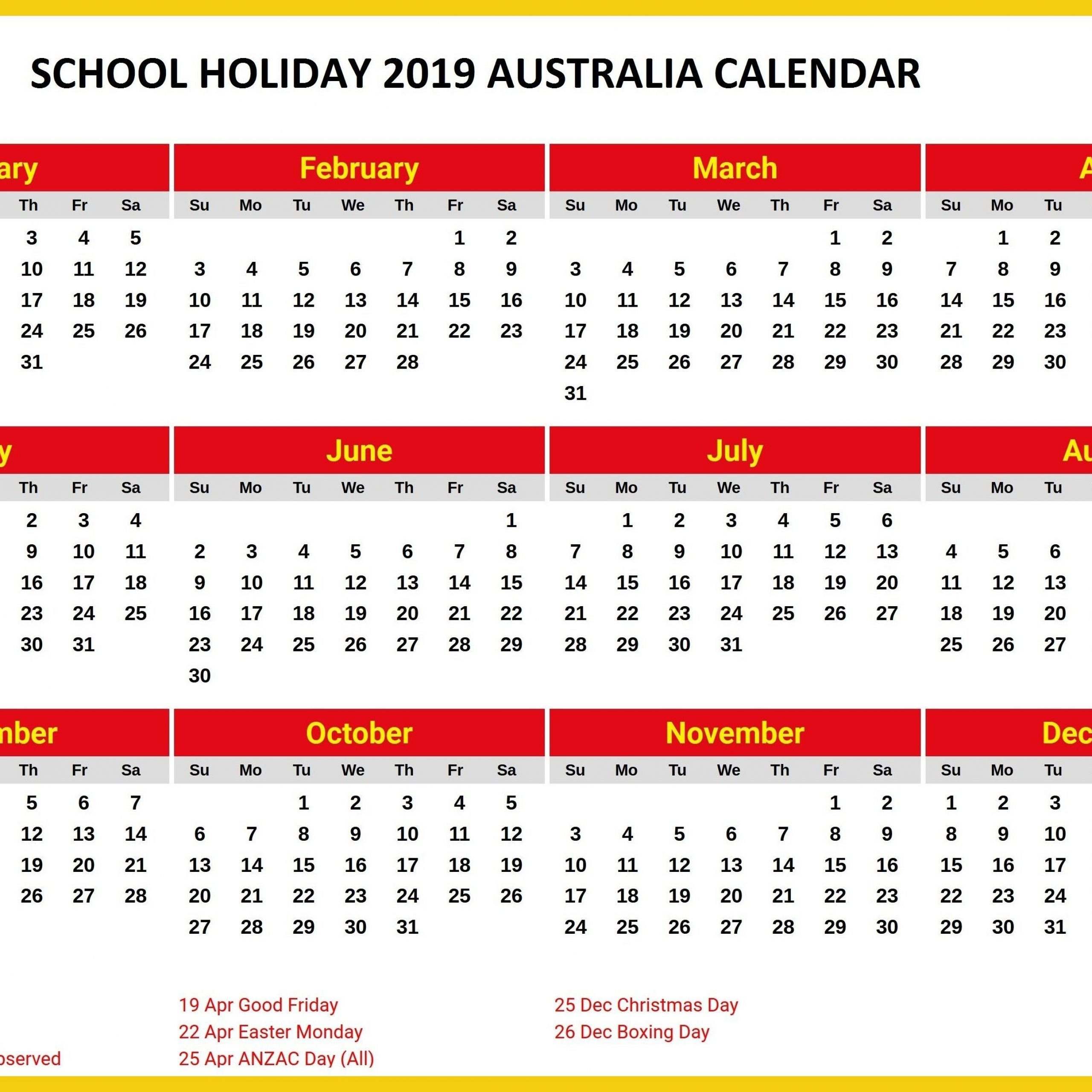 2020 Calendar Qld Printable | Free Printable Calendar