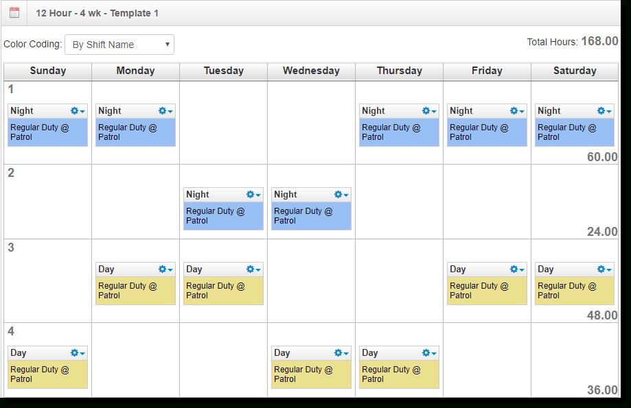 2021 12 Hour Rotating Shift Calendar / 24 7 Shift Schedule