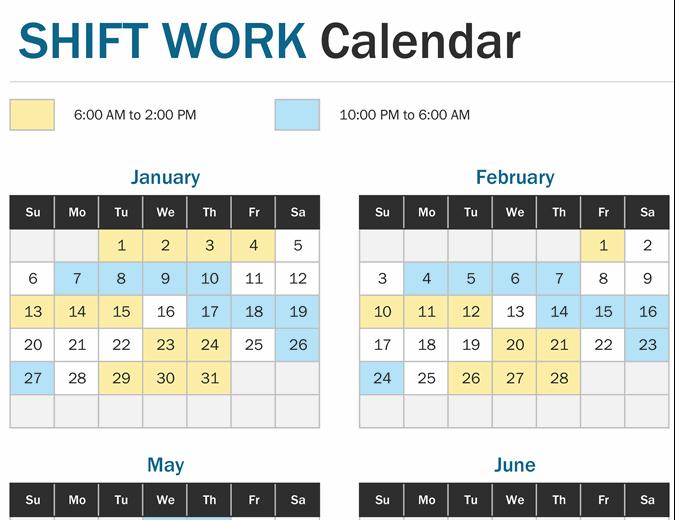 2021 12 Hour Rotating Shift Calendar - Free Rotation