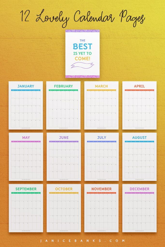 2021-2023 Calendar Indesign Template: Friendly Edition In