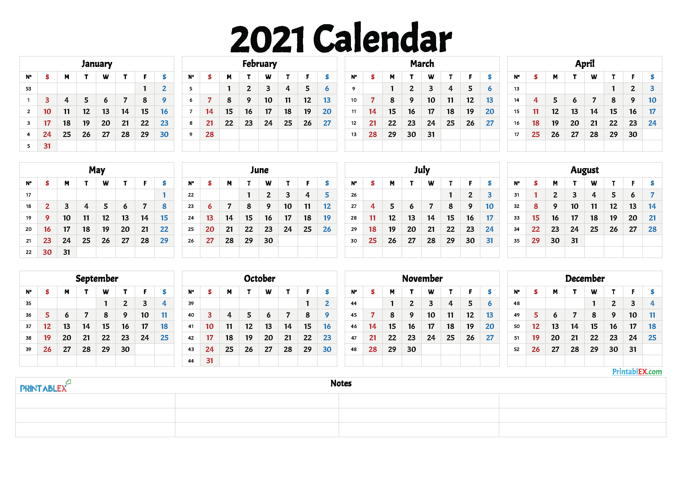 2021 And 2021 Weekly Calendar Printable | Free 2021