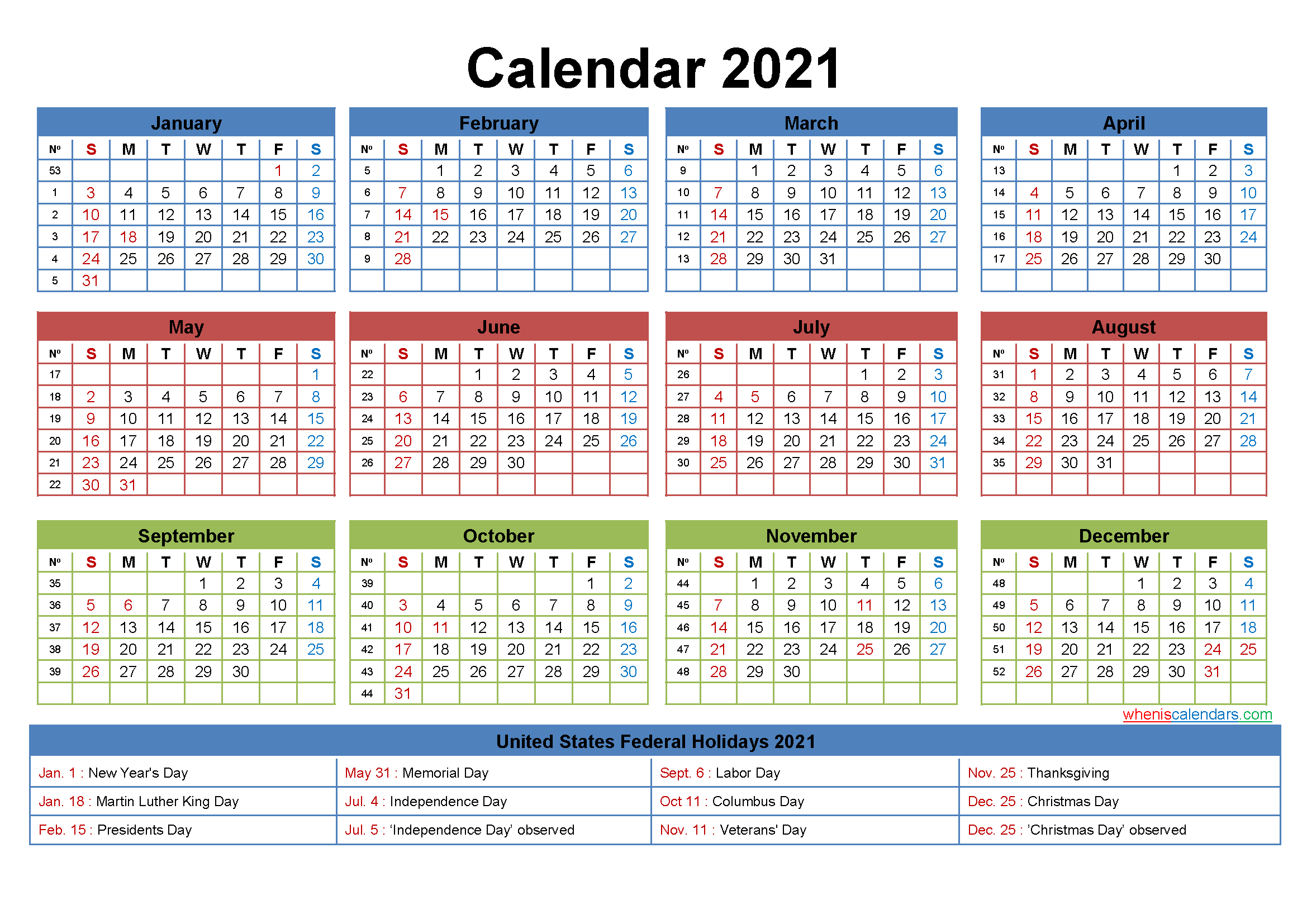 2021 Calendar Editable | Calendar Printables Free Templates