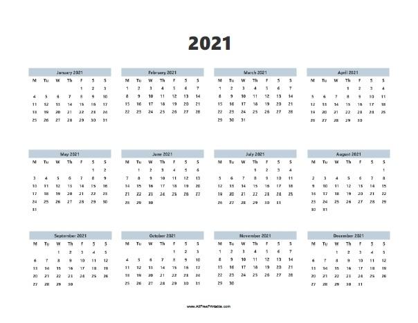 2021 Calendar Template Free | Qualads