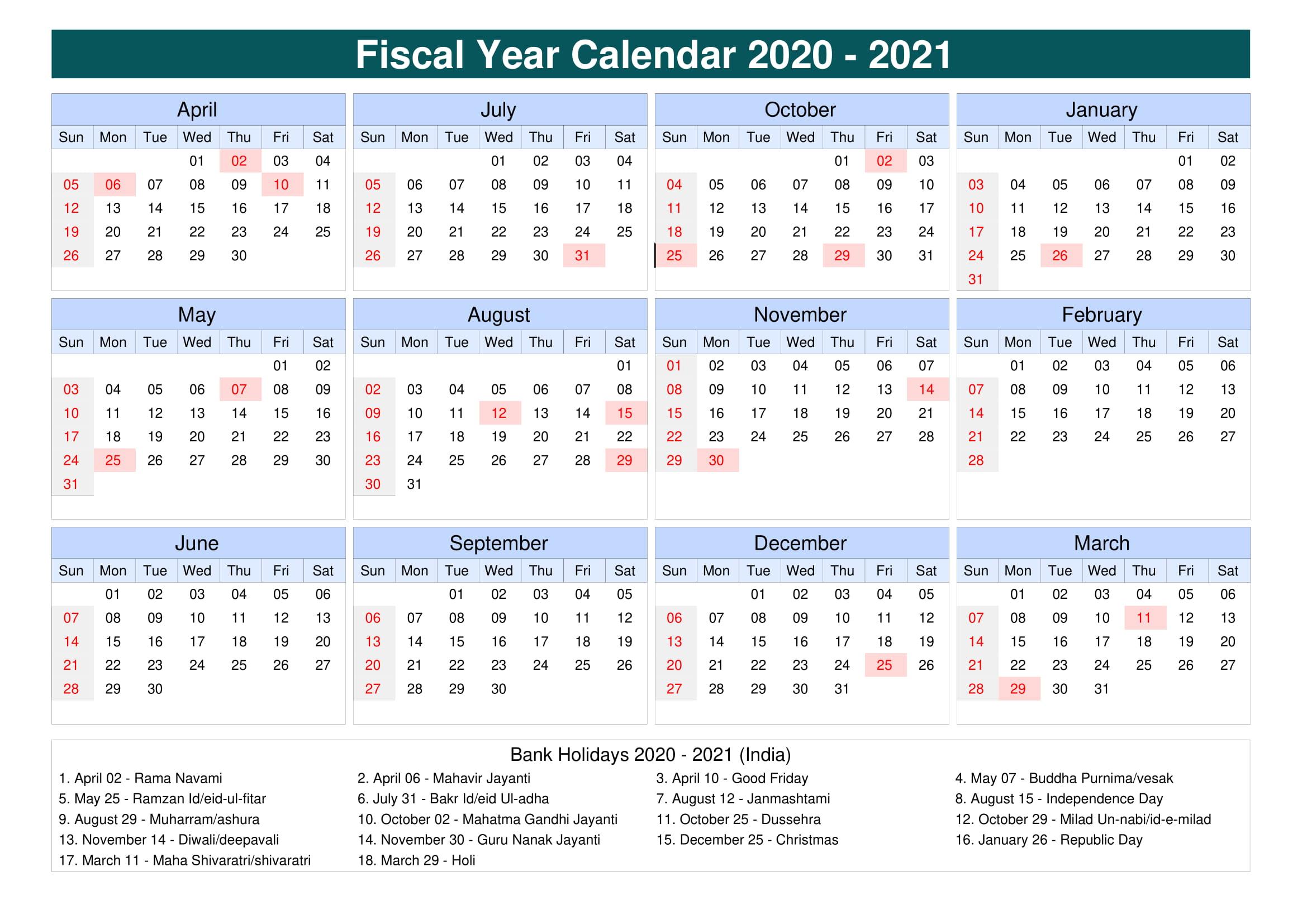 2021 Calendars With Holidays Printable - Printable Calendar