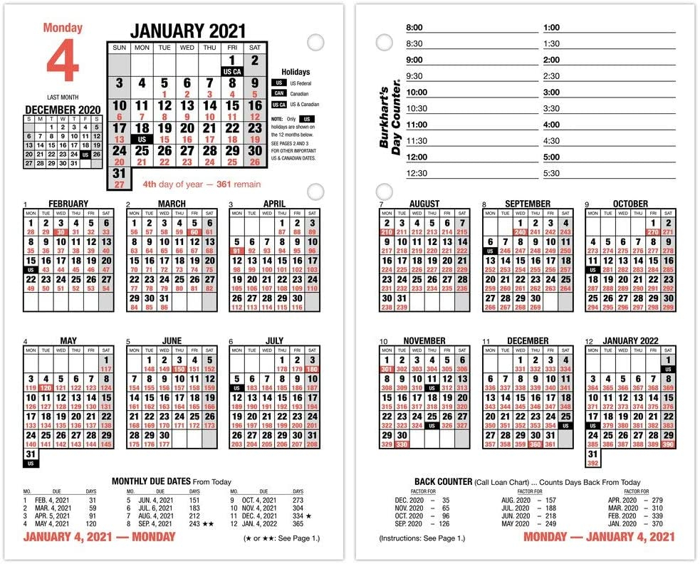 2021 Daily Desk Calendar Refill By At-A-Glance, 4-1/2 X 7