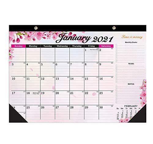 2021 Desk Calendar With Notes, Julian Date Jan. 2021 - Dec