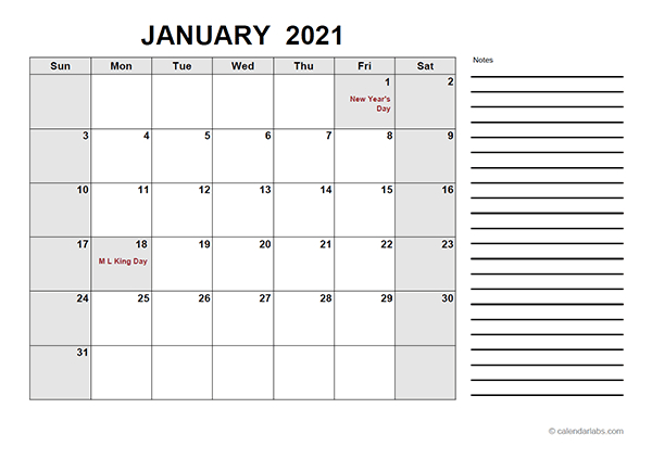2021 Free Calendar Pdf - Free Printable Templates