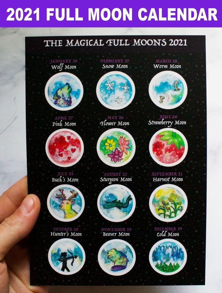2021 Magic Full Moon Lunar Calendar - Traditional Full