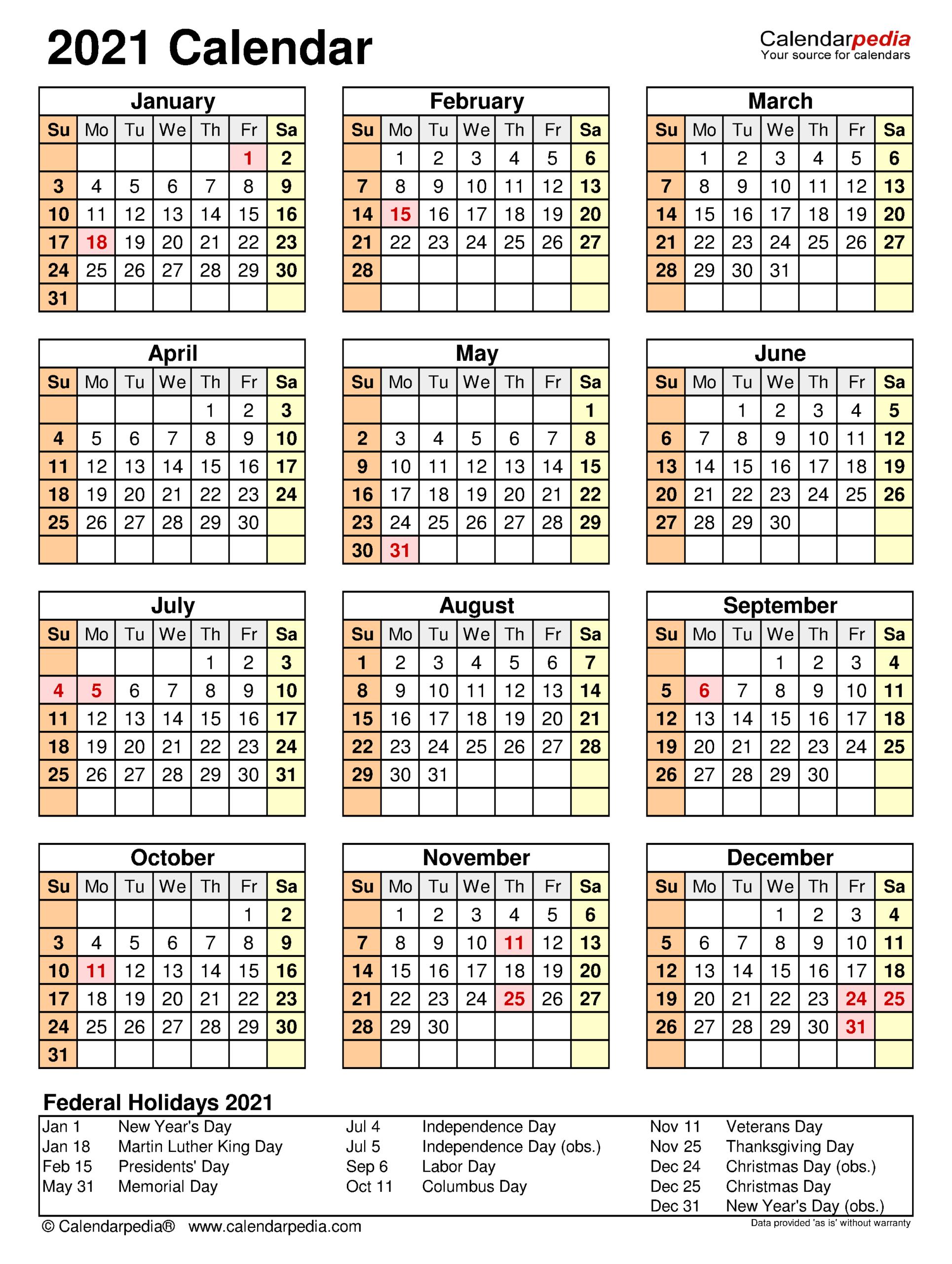 2021 Printable Attendance Calendar | Calendar Printables