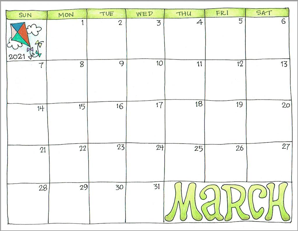 2021 Printable Calendar Imom | Free Printable Calendar