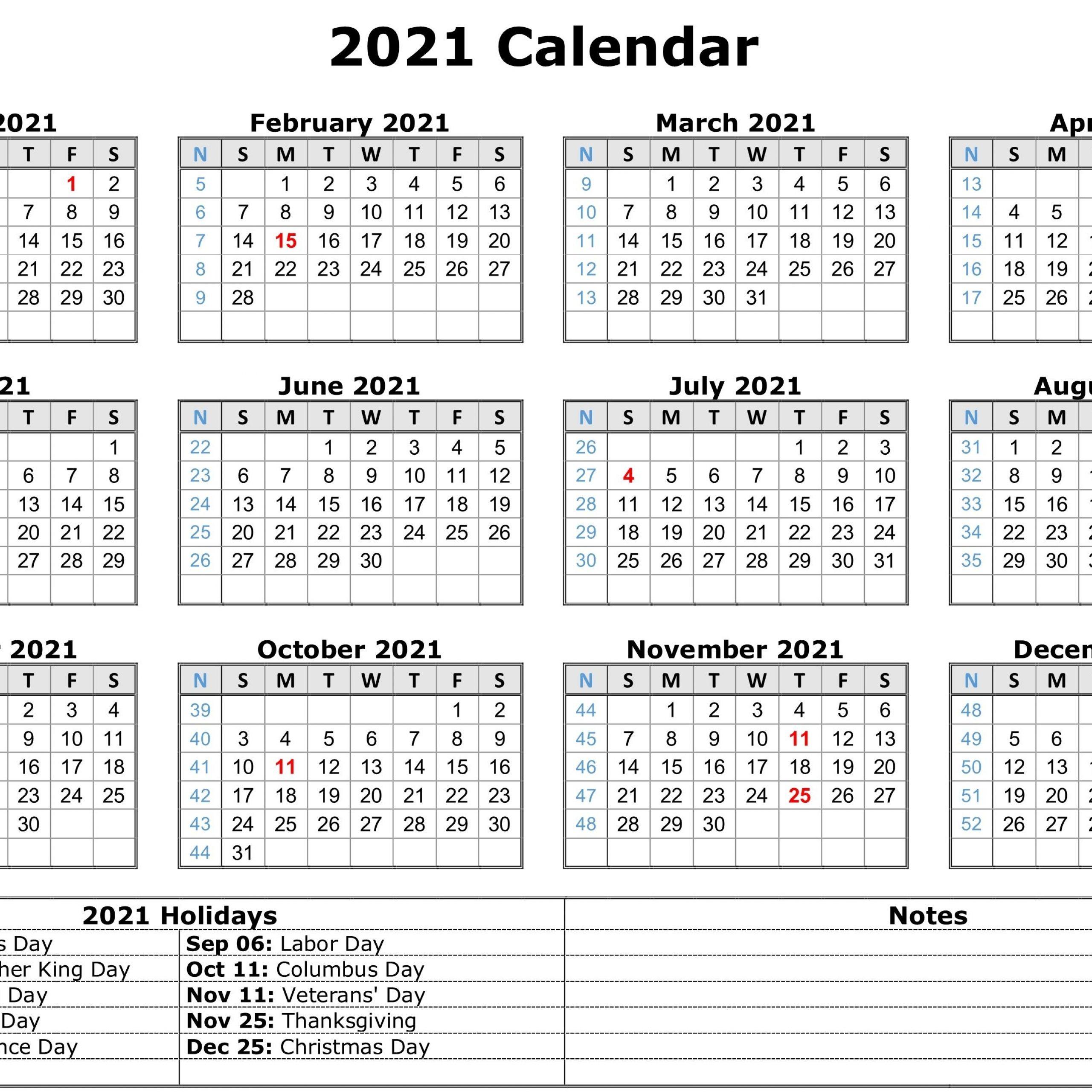 2021 Printable Calendar One Page Pdf   2021 Printable