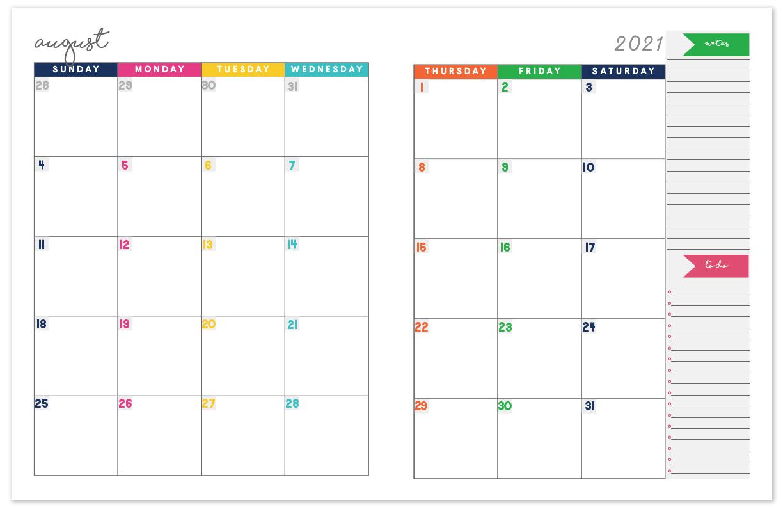 2021 Printable Calendar Two Page | Free Printable Calendar