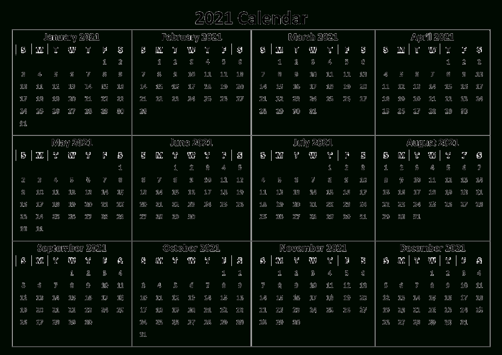 2021 Printable Calendar Yearly Templates - Pdf, Word Excel