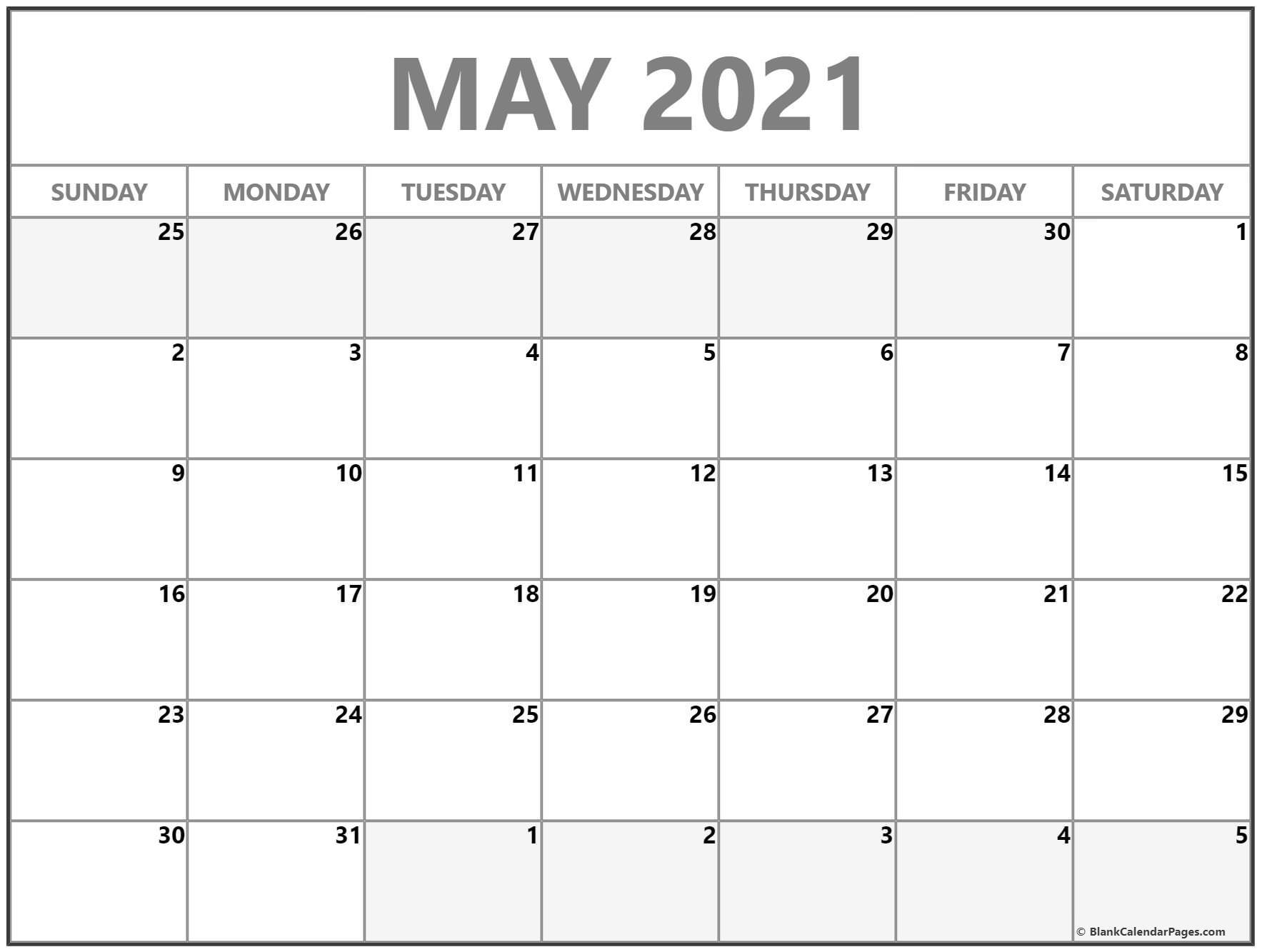 2021 Printable Monthly Calendar   Ten Free Printable