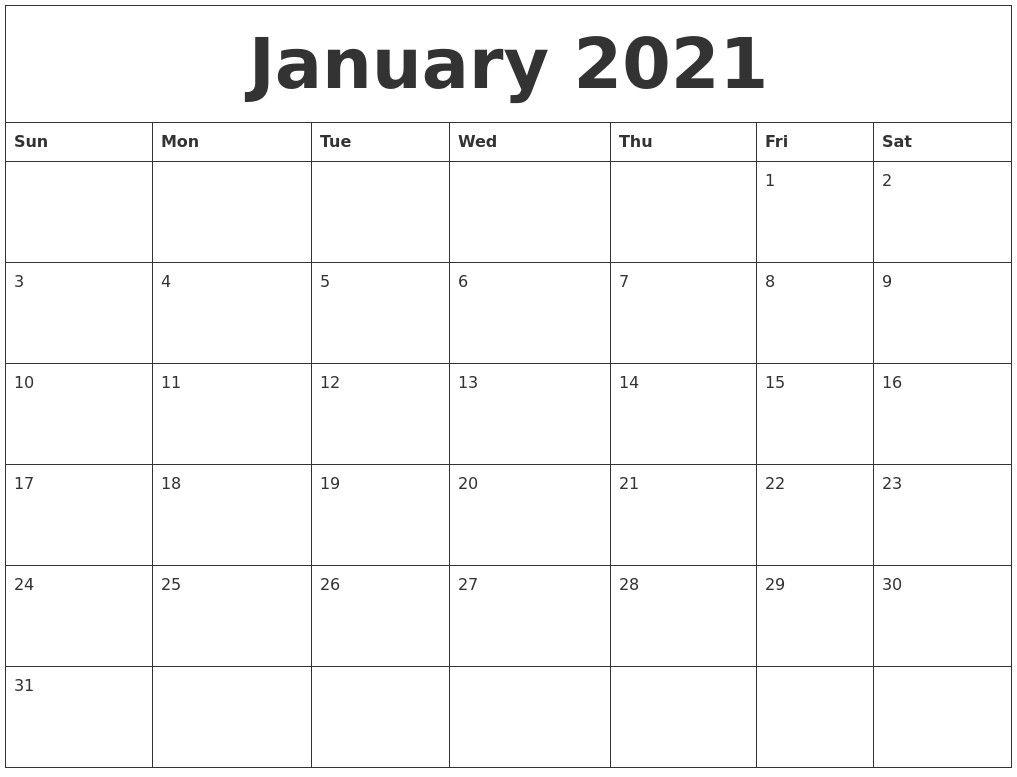 2021 Printable Monthly Calendar With Lines   Calendar