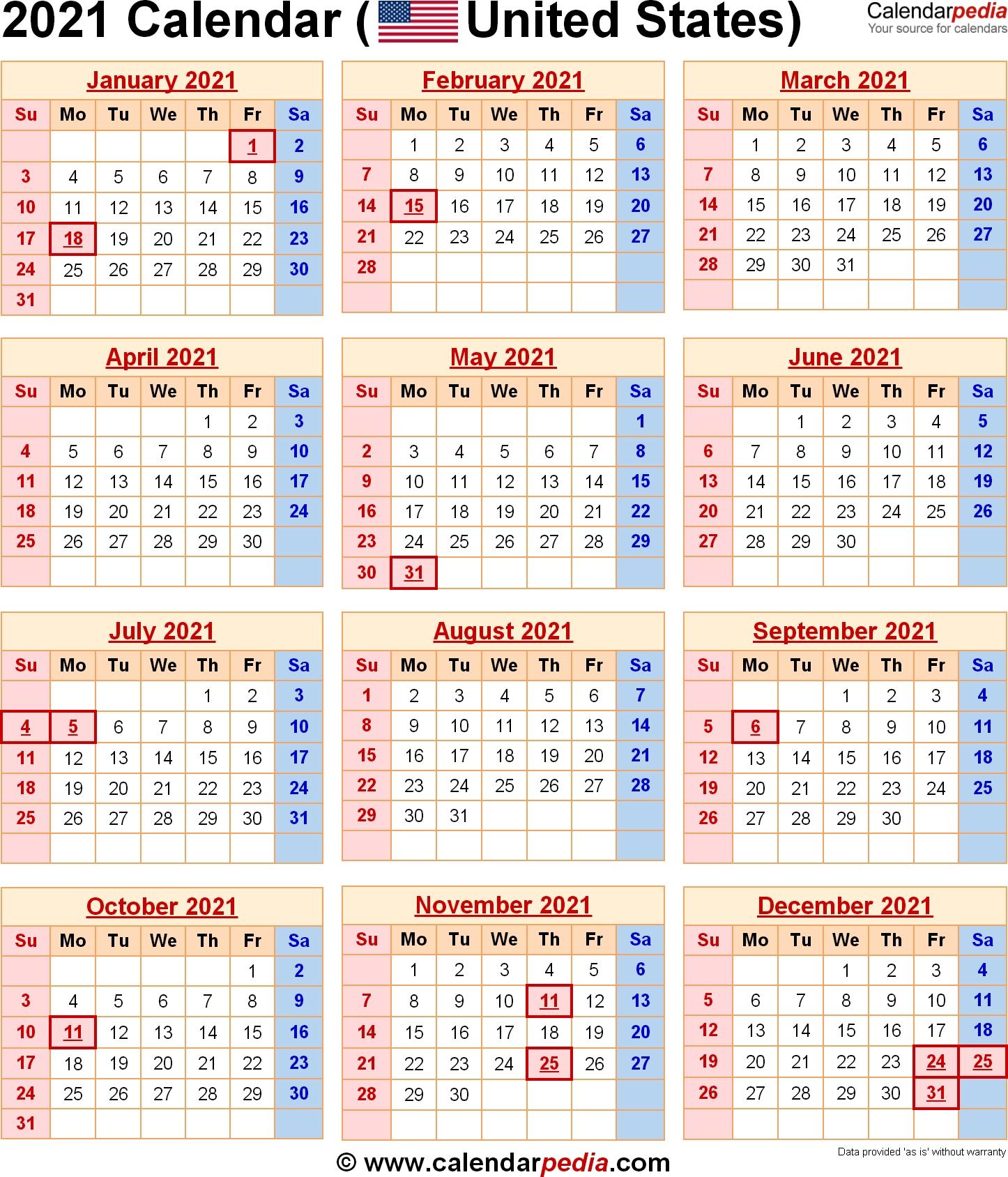 2021 Us Holidays Printable List | Calendar Template Printable