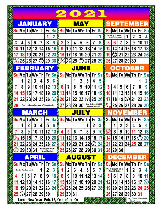2021 Usa Calendars - Pdf And Print Editions