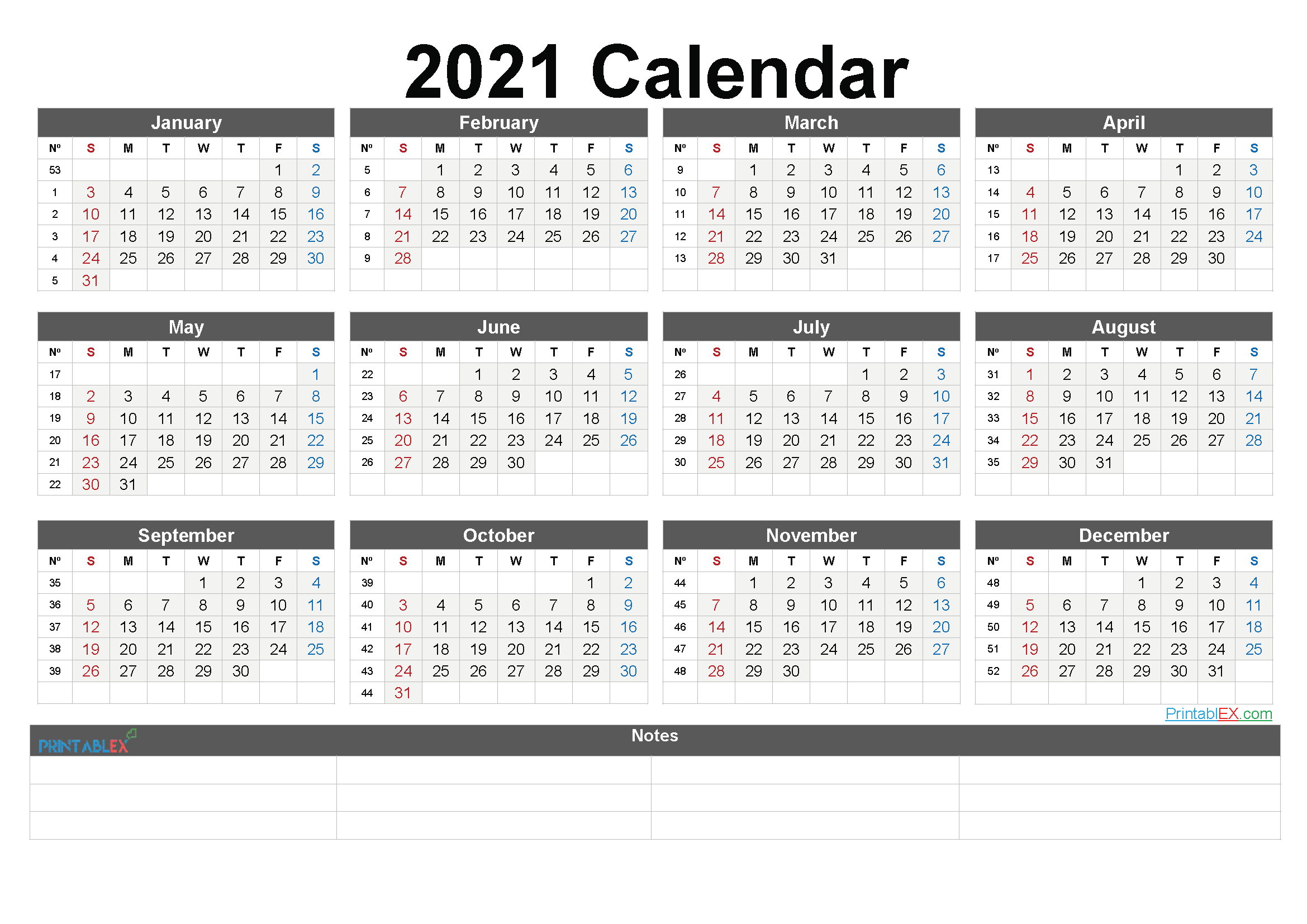2021 Week Calendar   2021 Calendar