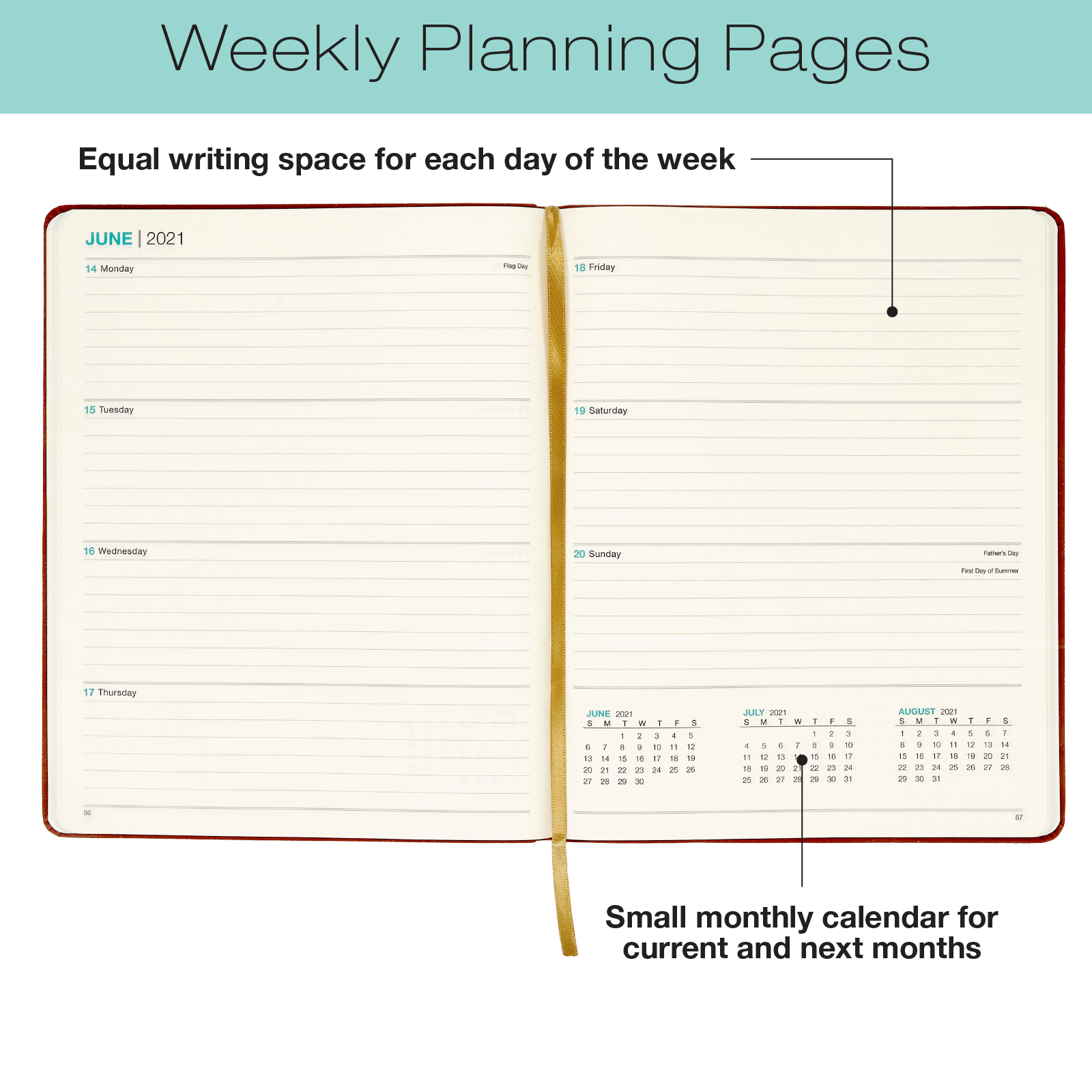 2021 Weekly Pocket Planner/Pocket Calendar - 14 Months