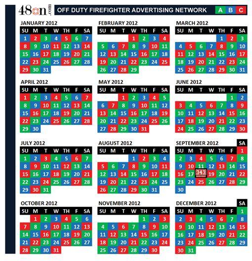 24 48 Shift Calendar 2021   Printable March