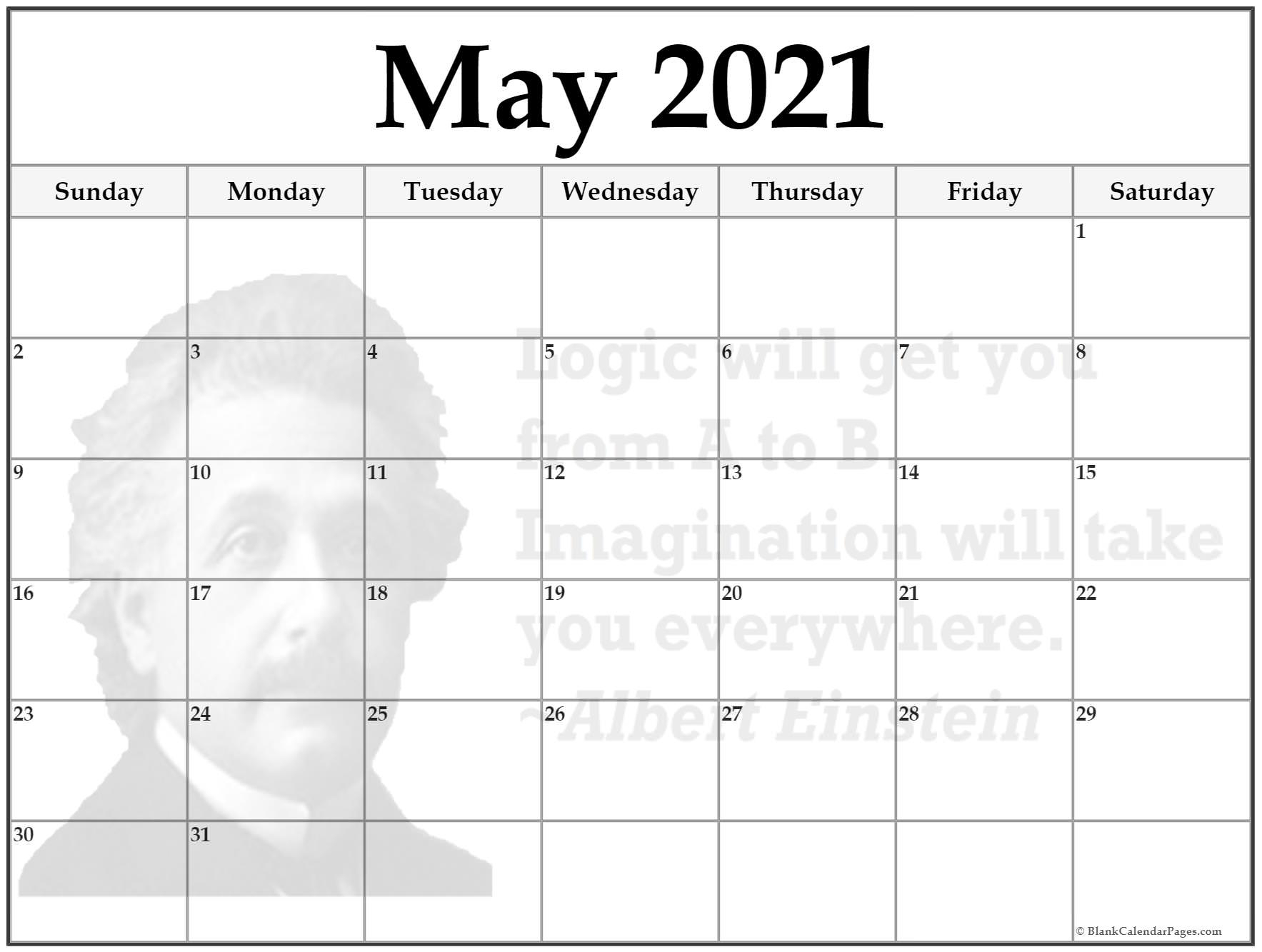 24+ May 2021 Quote Calendars