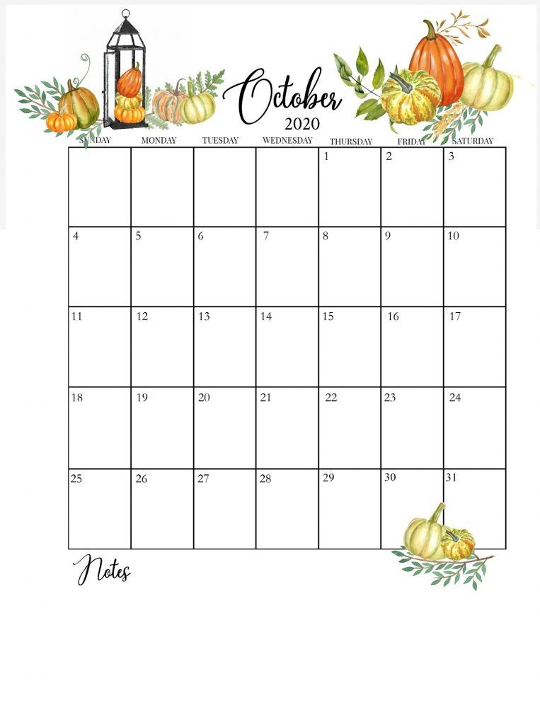50 Free Printable October 2020 Calendars With Holidays