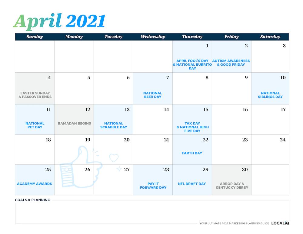 A Customizable 2021 Marketing Calendar For Every Business