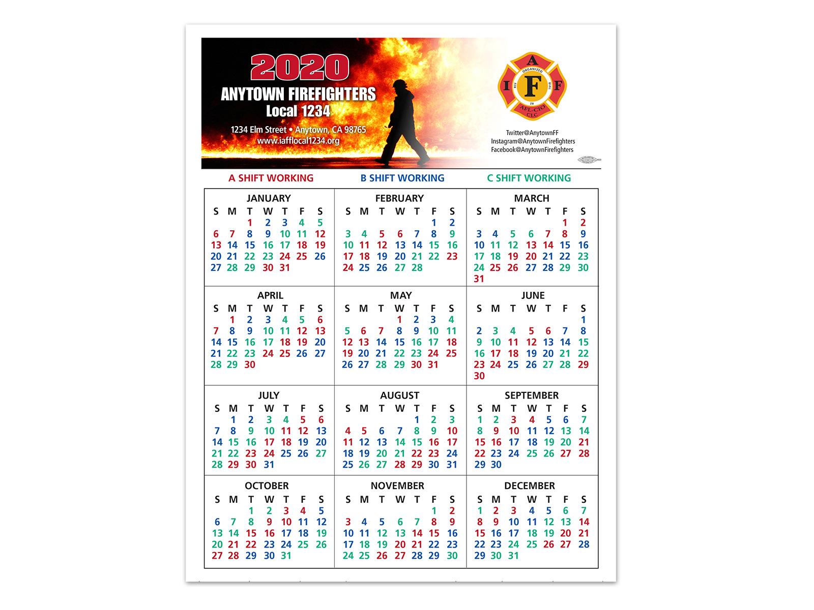 Abc Firefighter Shift Calendar 2021   Calendar 2021