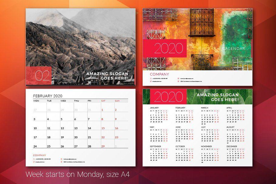 Ad: Wall Calendar 2020 By Antartstock On @Creativemarket