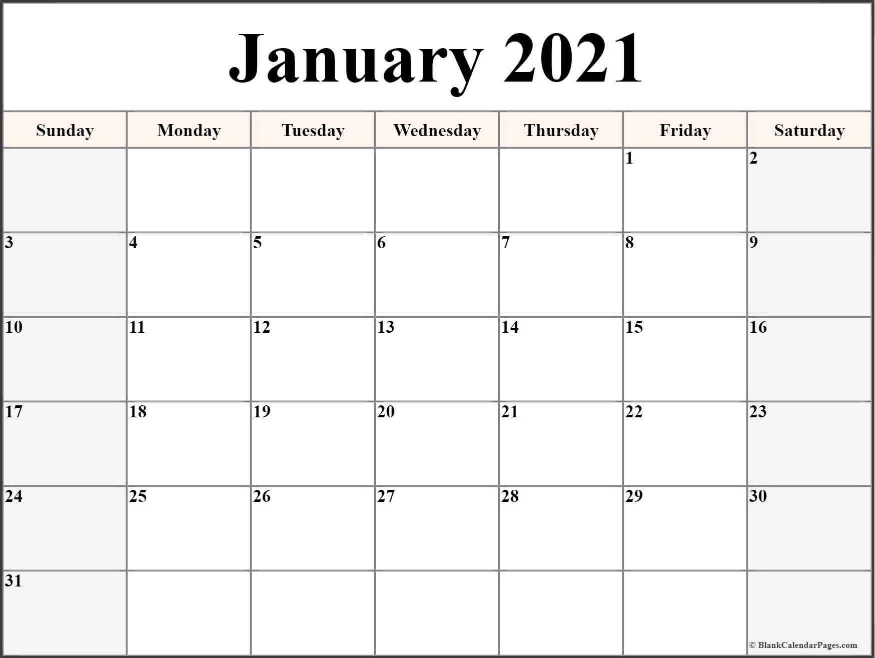 Array | Printable Calendar 2021