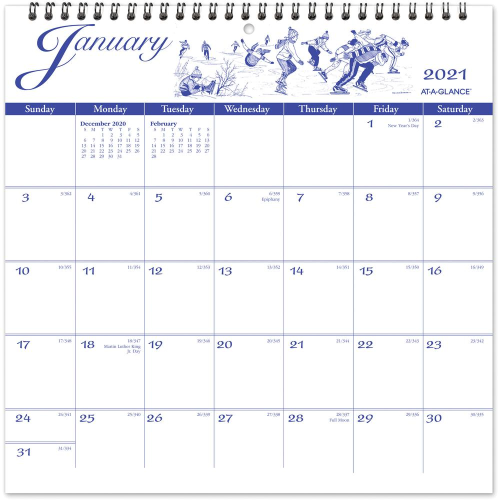 At-A-Glance Illustrators Edition Monthly Wall Calendar