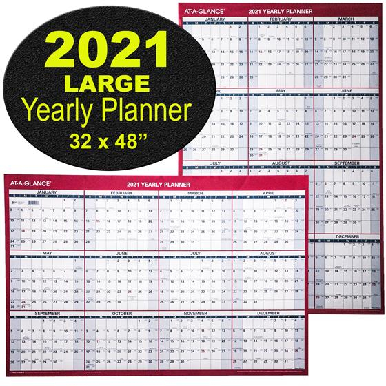 At-A-Glance Pm326-28 2021 Yearly Planner, Large Dry Erase