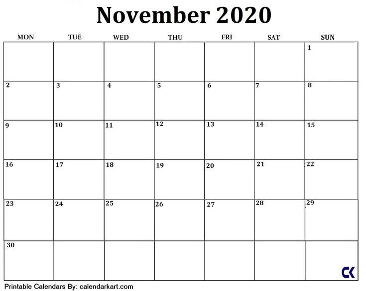 Best Free Printable Calendar Large Blocks In 2020 | Free