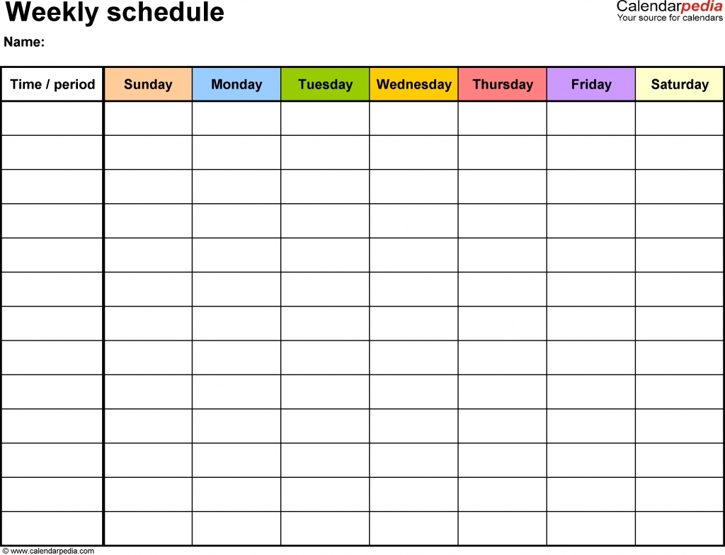 Blank Calendar With Time Slots | Calendar Template Printable