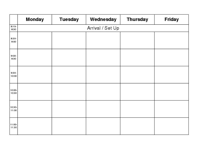 Blank Calender Monday Through Friday | Ten Free Printable Calendar 2020-2021