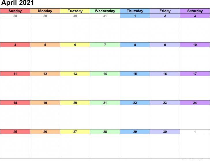Blank Monthly Calendar Pdf 2021 Various Months | Free