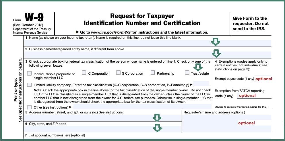 Blank W9 Form In Pdf   Downoad 2021 W9 Blank Form Free