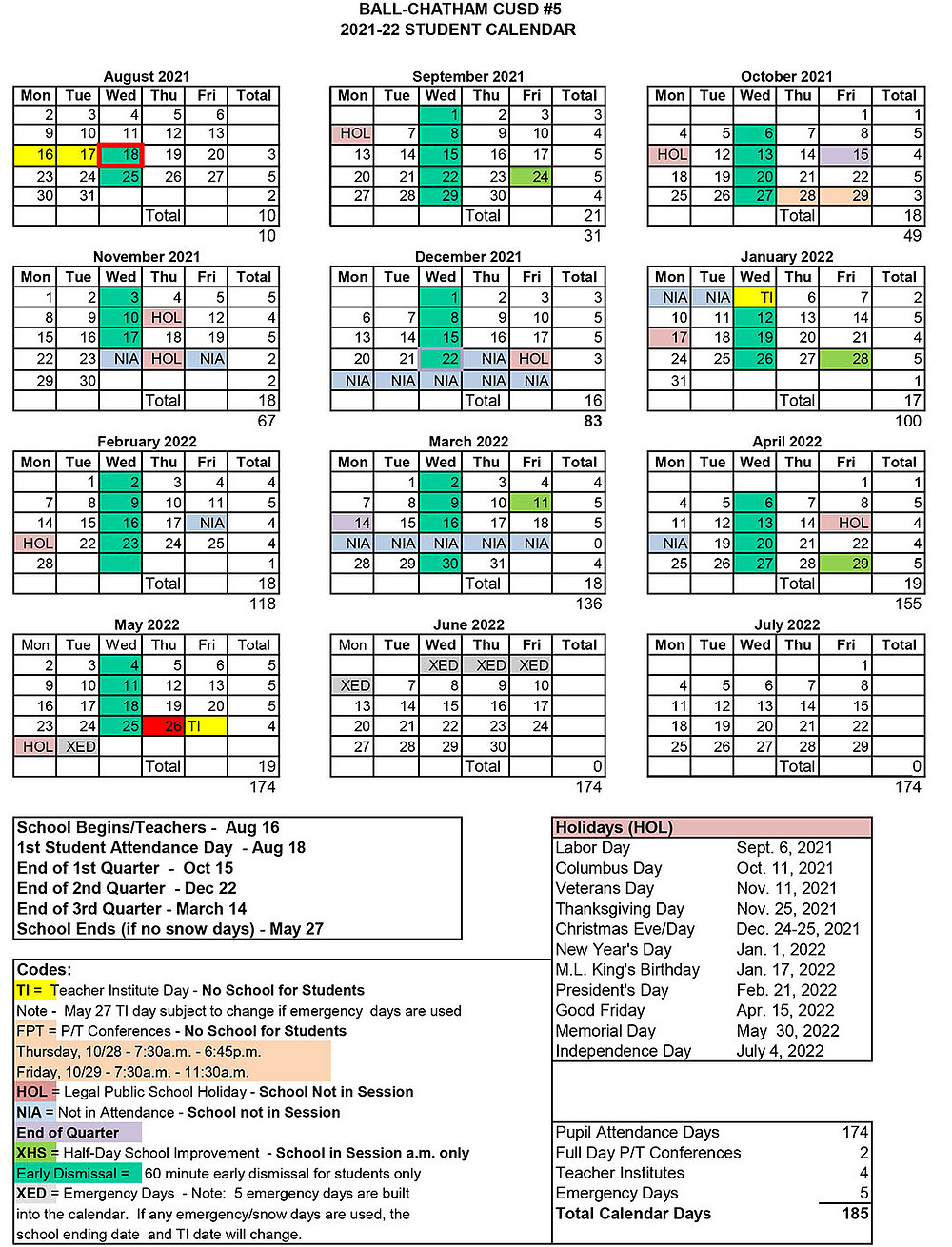 Board Of Education Approves Student Attendance Calendars
