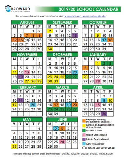 Broward Schools Calendar - You Calendars
