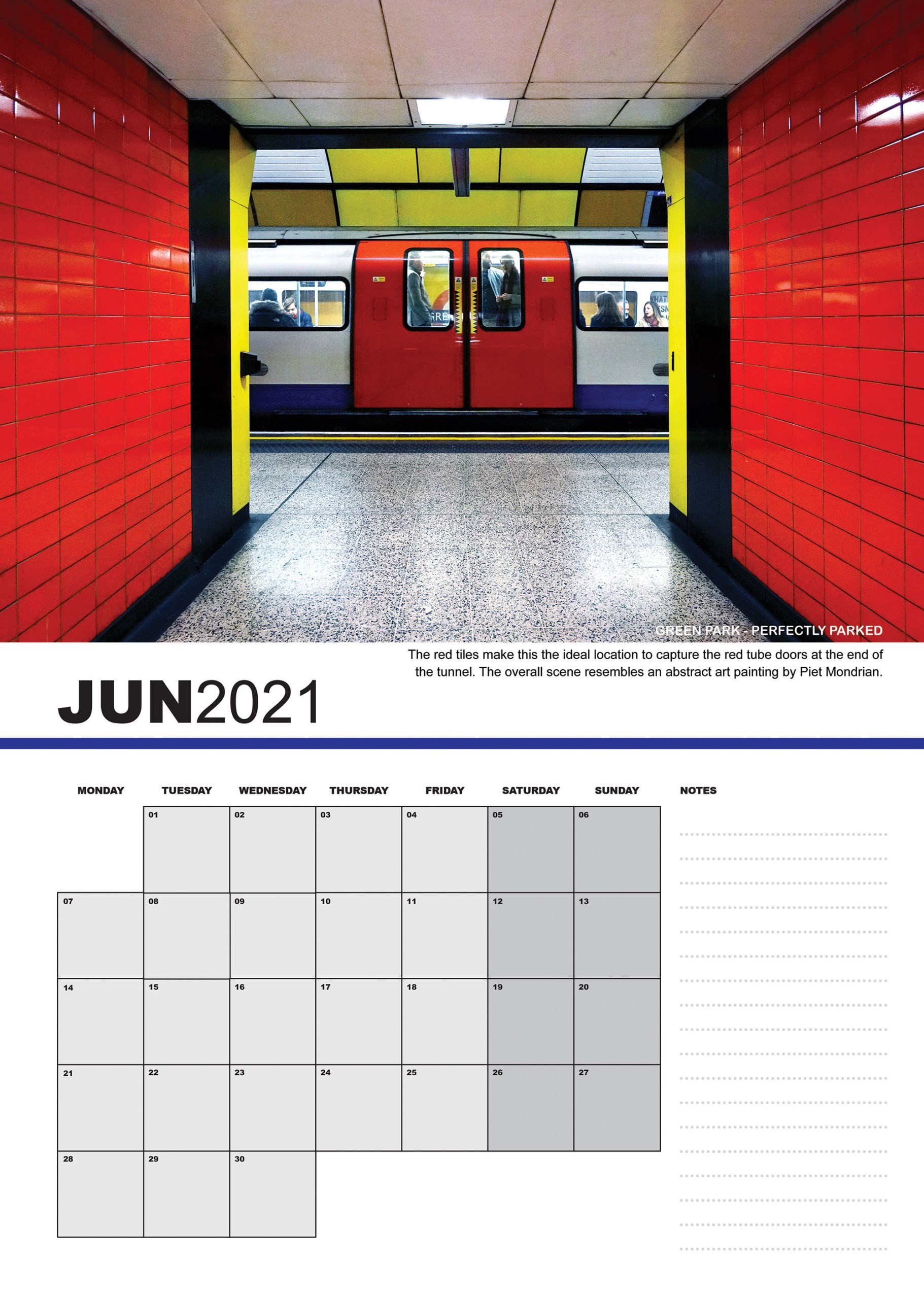 Buy London Undeerground 2021 Calendar - The Tubr Mapper Project