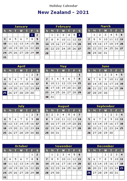 Calendar 2021 New Zealand | Calvert Giving