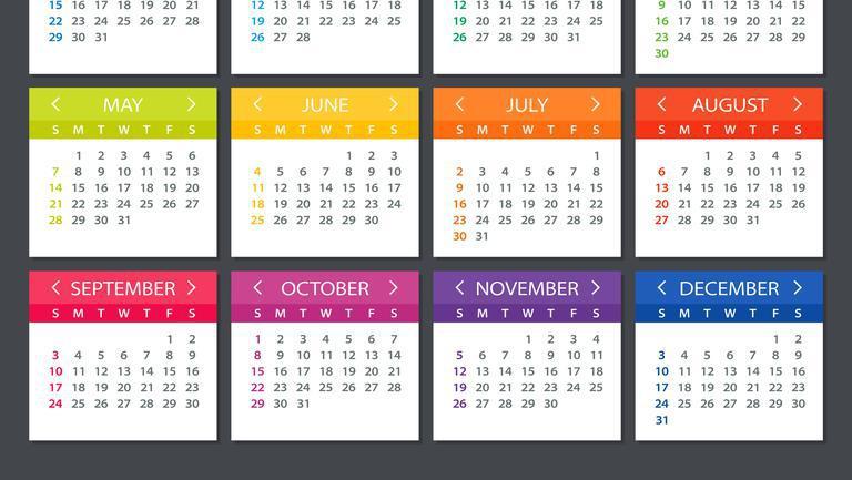 Calendar 2022 Zile Lucratoare - Nexta