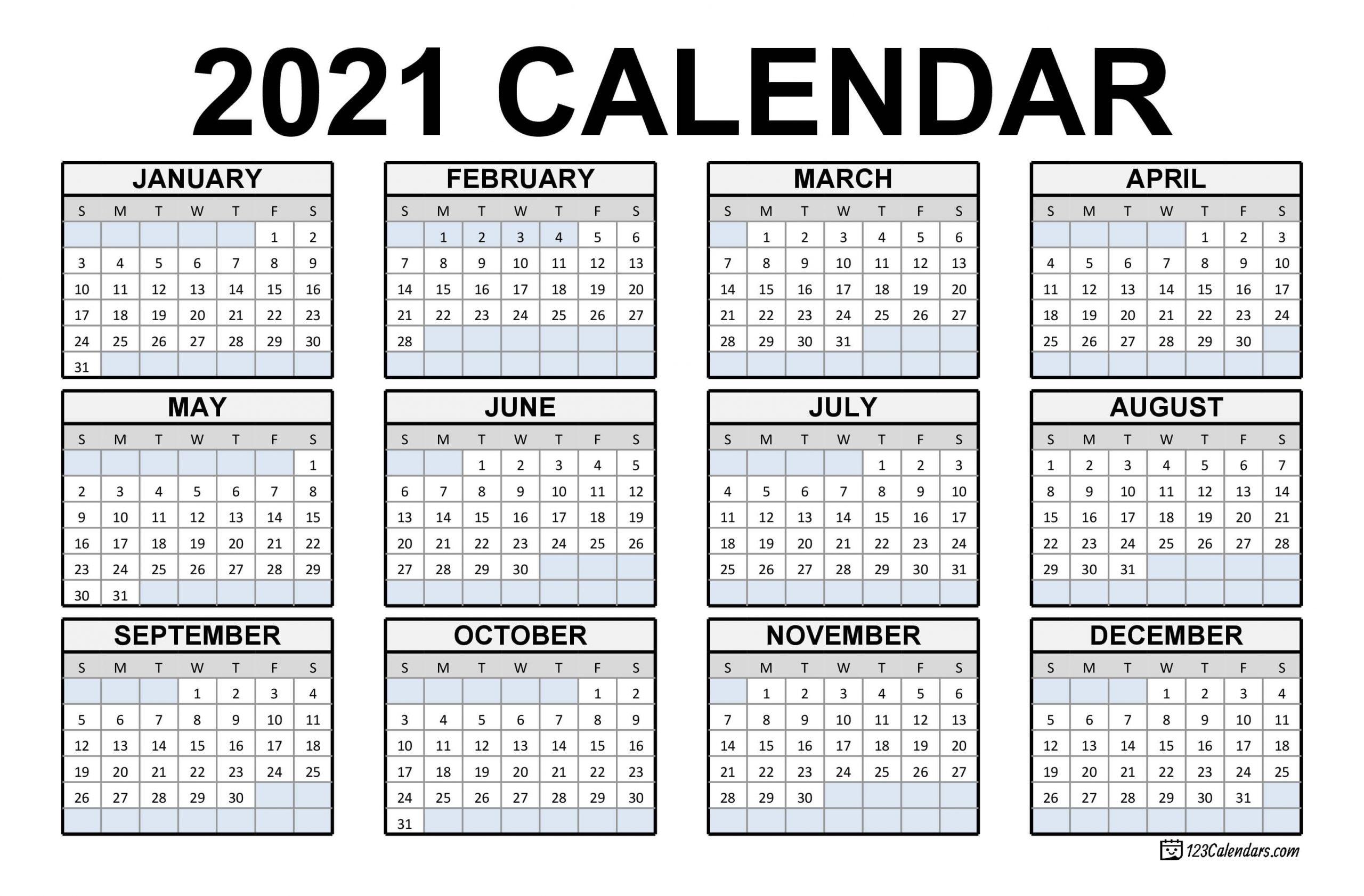 Calendar Of Weekends Only 2021 | Month Calendar Printable