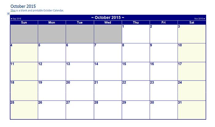 Calendar Template Editable - Printable Year Calendar