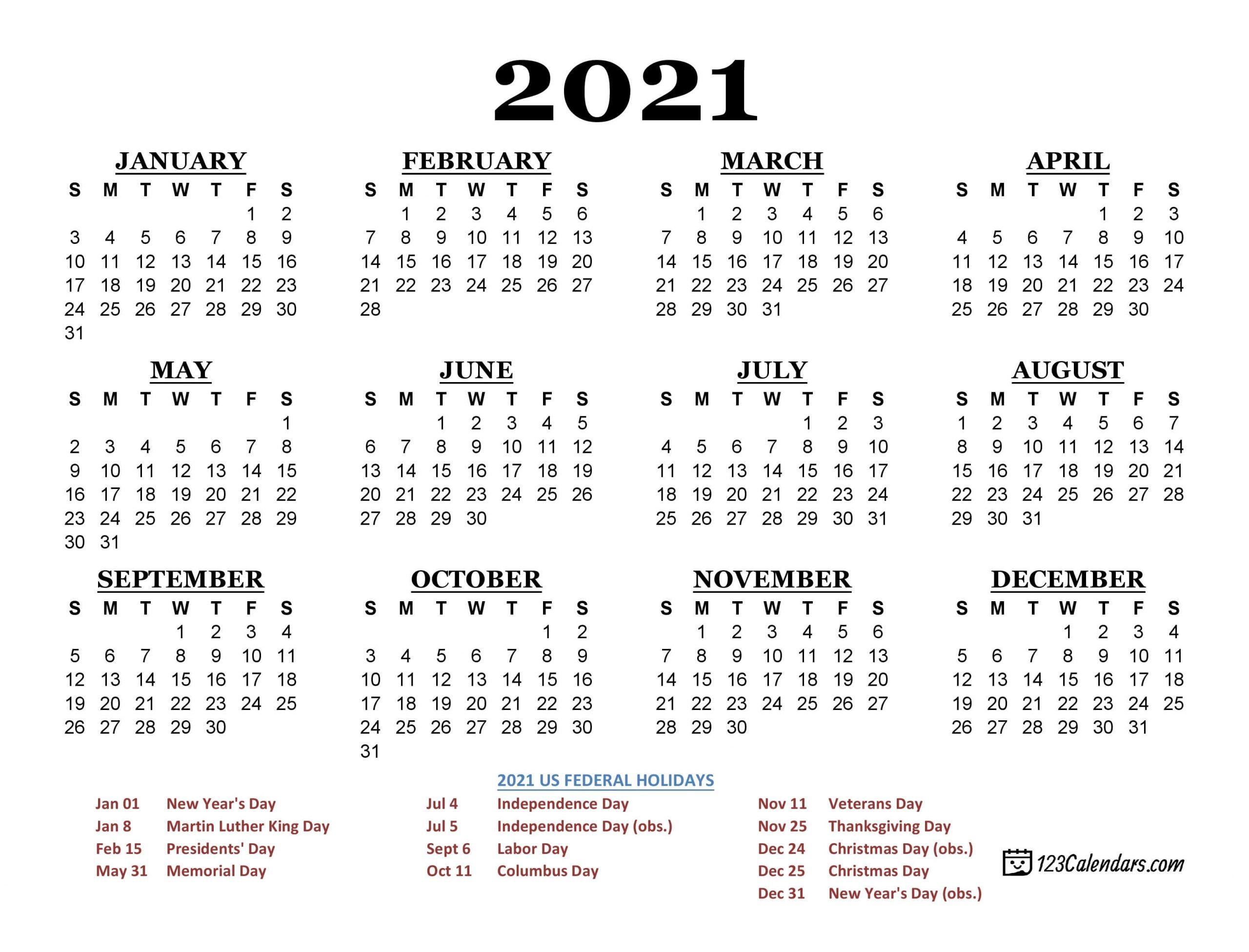 Calendar Write On 2021 | Month Calendar Printable