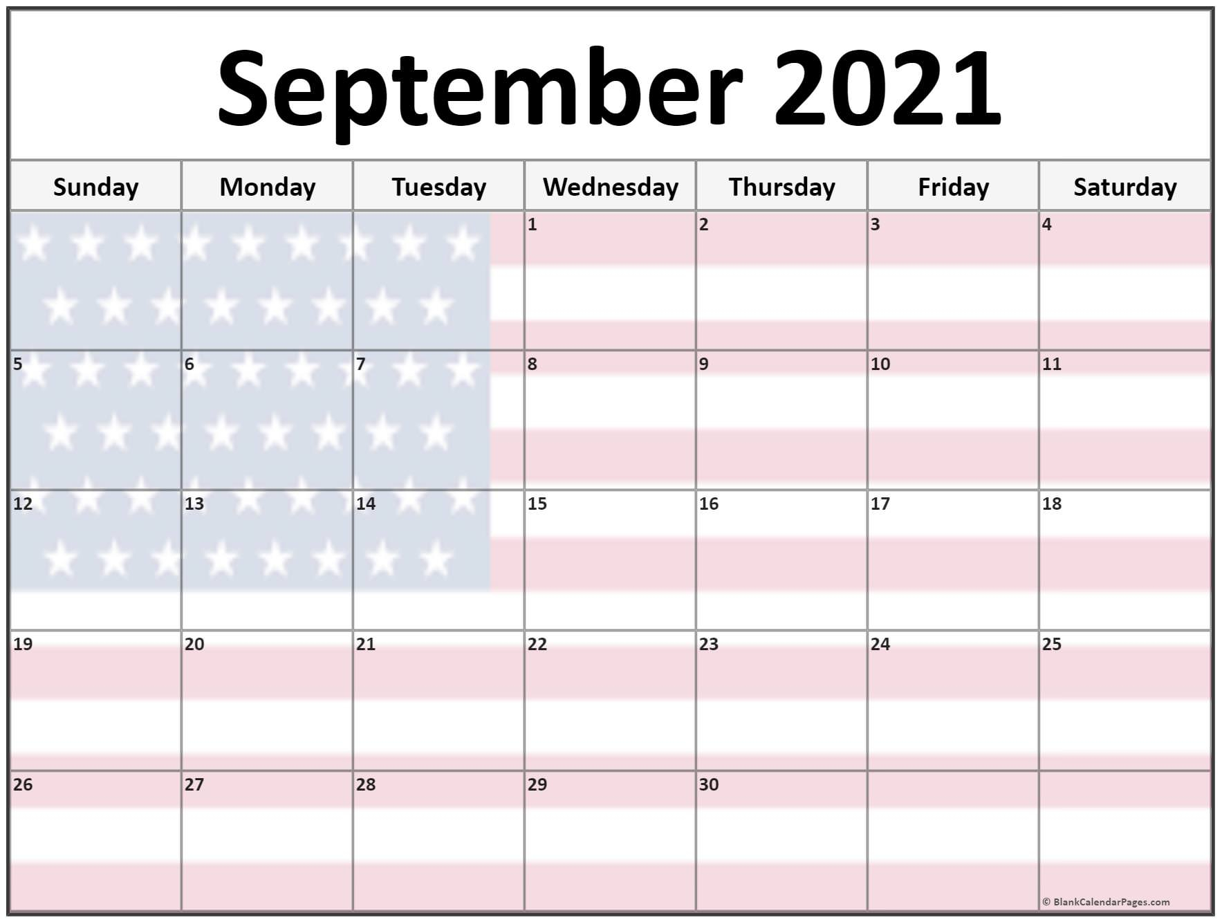 Collection Of September 2021 Photo Calendars With Image